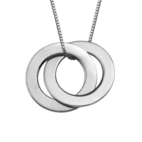 Silver Russian Ring Necklace with 2 Rings