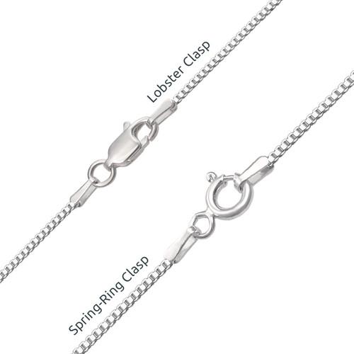 Silver Script Name Necklace - 2