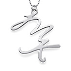 Silver Two Initial Necklace