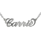 Silver Name Necklace - Extra Thick with Rollo Chain