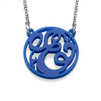 Single Initial Acrylic Monogram Necklace