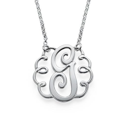 Single Initial Monogram Necklace