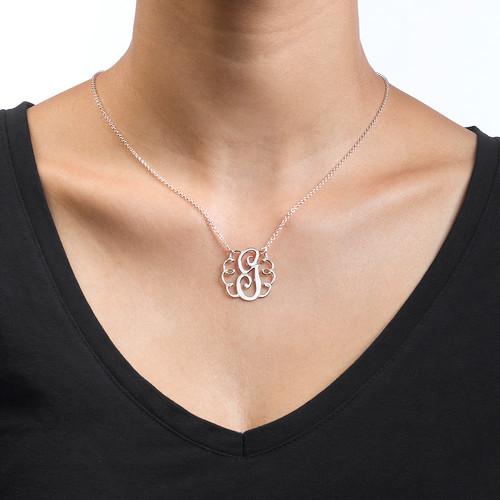 Single Initial Monogram Necklace - 1