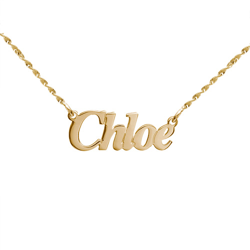Small Angel Style 14k Gold Name Jewelry MyNameNecklace