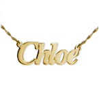 Small Angel Style 14k Gold Name Jewelry