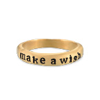 Stackable Engraved  Ring with Names in Gold Plating