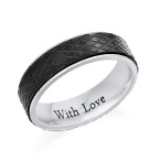 Stainless Steel Ring for Men-Black and Silver