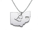 State Necklace - Personalized with your Initial