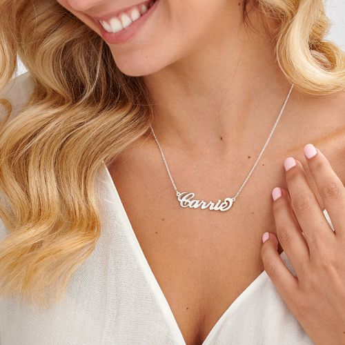 Sterling Silver Name Necklace /'Julie/' Carrie Style