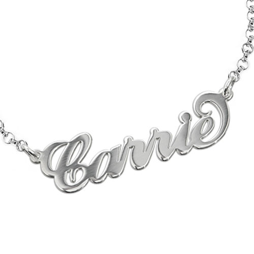 "Sterling Silver ""Carrie"" Style Name Bracelet - 1"