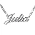 Sterling Silver Double Thickness Classic Name Necklace