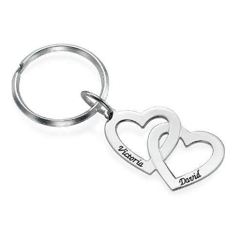 Sterling Silver Heart in Heart Keychain