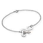 Infinity Bracelet with Initial