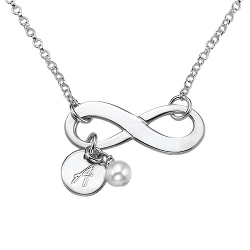 Personalized Infinity Necklace in Sterling Silver