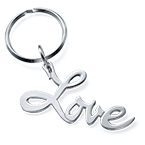 "Sterling Silver ""Love"" Keychain"
