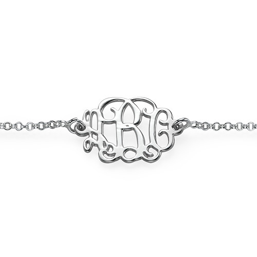 Sterling Silver Monogram Bracelet - 1