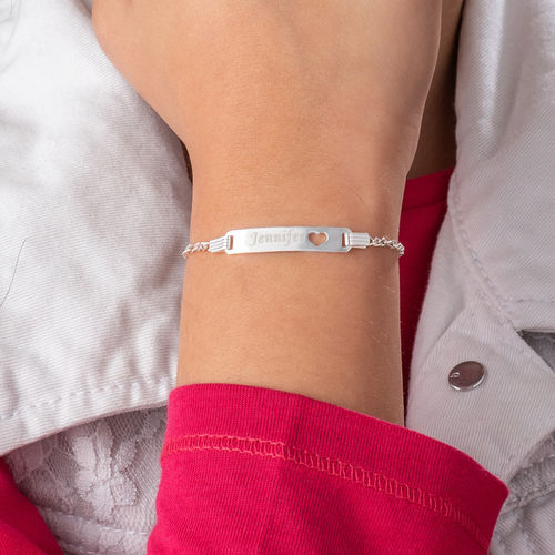Sterling Silver Name Bracelet for Teenagers - 3