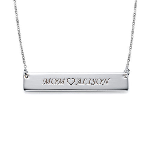 Sterling Silver Nameplate Necklace - 1