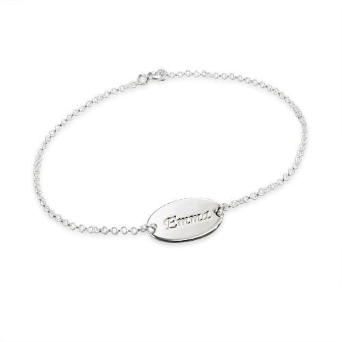 Sterling Silver Personalized Baby Name Bracelet - 1