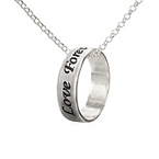 Sterling Silver Personalized Ring Necklace