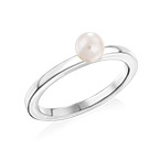 Sterling Silver Stackable Pearl Ring