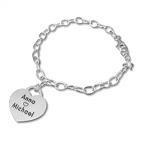 Silver Charm Heart Bracelet