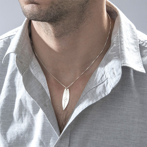 Surfboard Necklace with Initial - 3