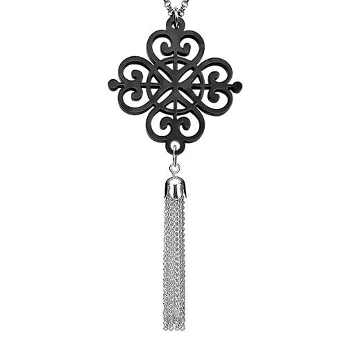 Tassel with Black Acrylic Design