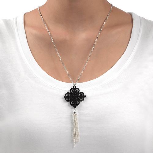 Tassel with Black Acrylic Design - 1