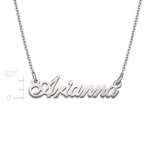 Tiny Classic Name Necklace In Extra Strength Silver