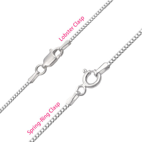 Tiny Name Necklace for Women in Extra Strength Silver - 3