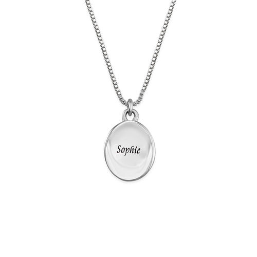 Tiny Oval Photo Pendant - 1