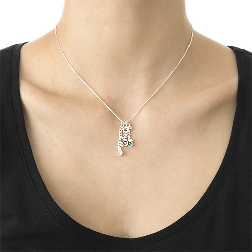 Tiny Sized Vertical Name Necklace - 3