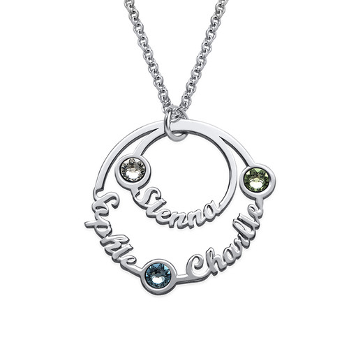 Two Circle Script Necklace - Yours Truly Collection
