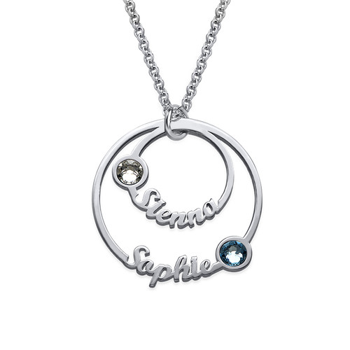 Two Circle Script Necklace - Yours Truly Collection - 1