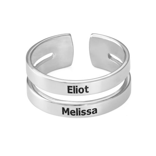 Two Name Ring in Sterling Silver - 1
