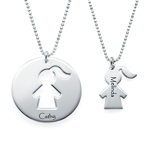 Unique Gift for Mom - Mother Daughter Necklace Set