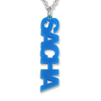 Vertical Acrylic Name Necklace