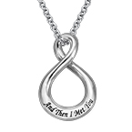 Vertical Infinity Necklace with Engraving