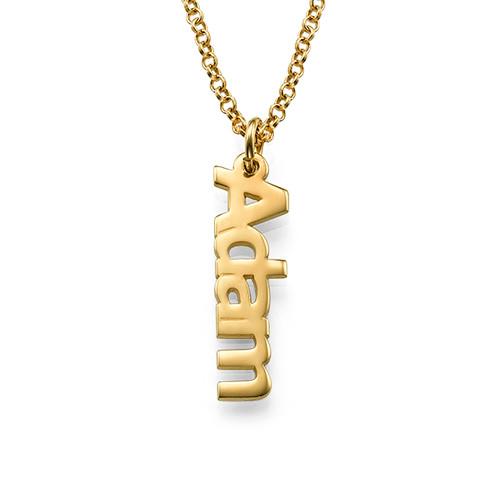 vertical name necklace in 18k gold plating mynamenecklace