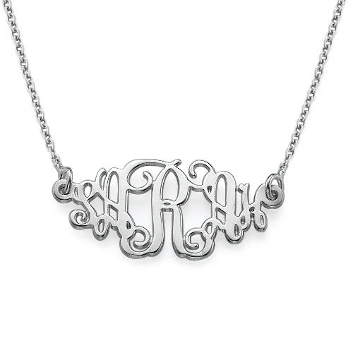 Personalized Jewelry Monogram Style Name Necklace