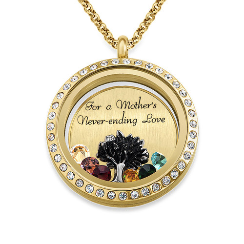 We Are Family Floating Locket with Gold Plating