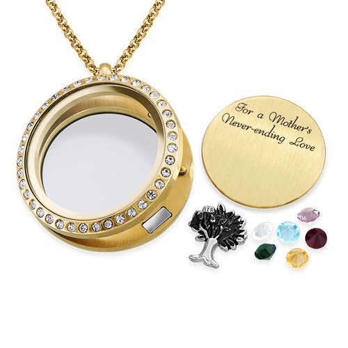 We Are Family Floating Locket with Gold Plating - 1