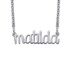 Wire Name Necklace - Lower Case Design - Next Generation Collection