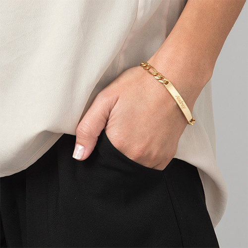 Women's ID Bracelet in 18k Gold Plating - 2