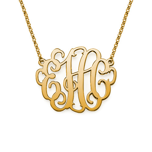 XL Monogram Pendant in 18K Gold Plating