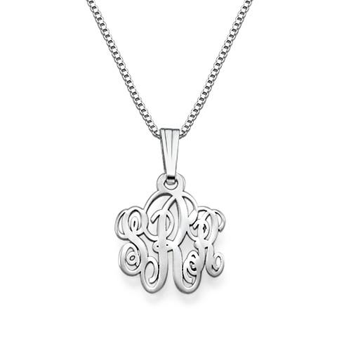 XS Silver Monogram Necklace