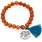 Yoga Jewelry - Engraved Elephant Bead Bracelet