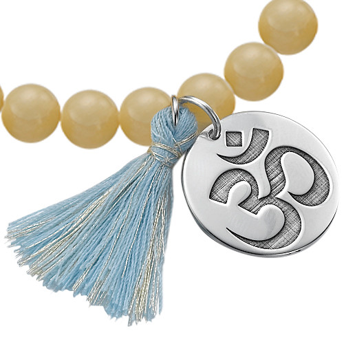 Yoga Jewelry - Engraved Om Bead Bracelet - 1