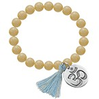 Yoga Jewelry - Engraved Om Bead Bracelet